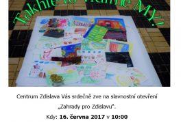 """Otevření """"Zahrady pro Zdislavu"""""""